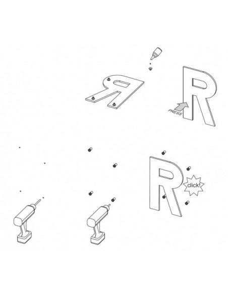 Montaż liter przestrzennych