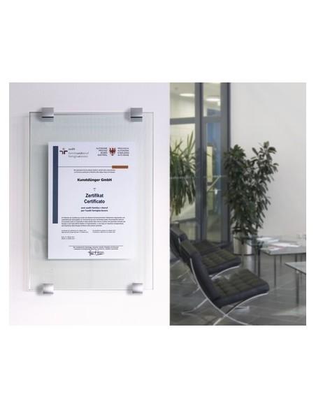 Tabliczka informacyjna mocowana na Fisso Clamper