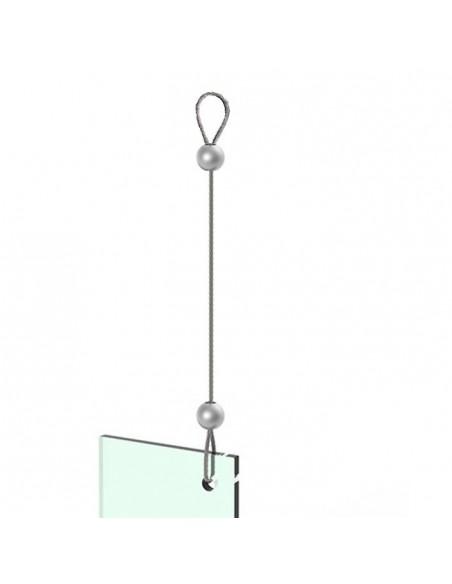 Linka stalowa z zaciskami do podwieszania
