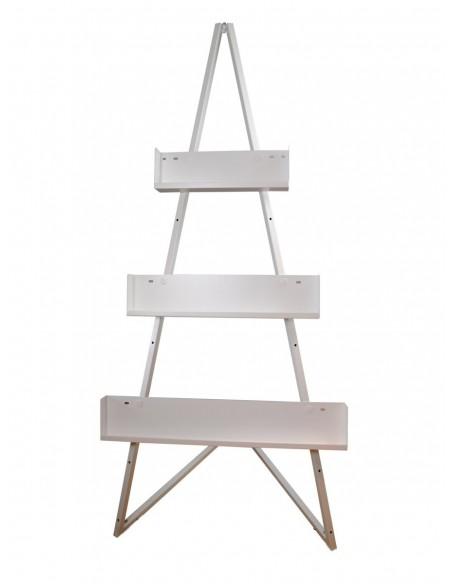Sztaluga metalowa ekspozycyjna z półkami